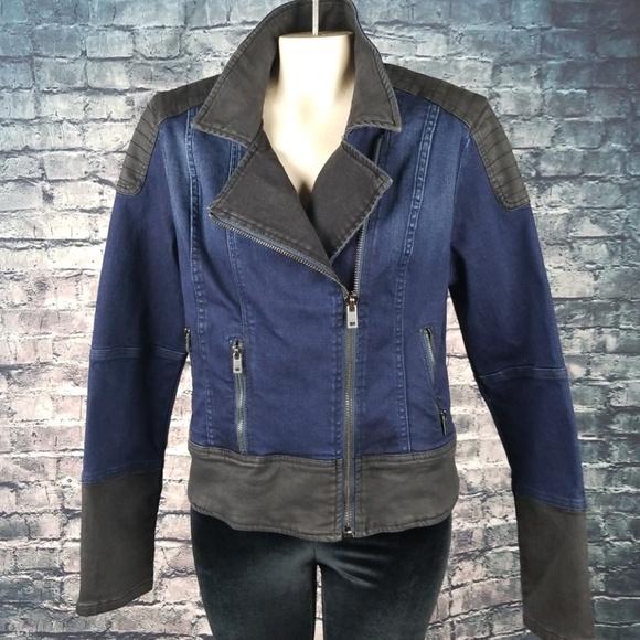 Guess Jackets & Blazers - Guess Denim Motorcycle Jacket 16 (XL)